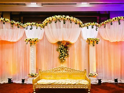simple indian wedding reception decorations outdoor