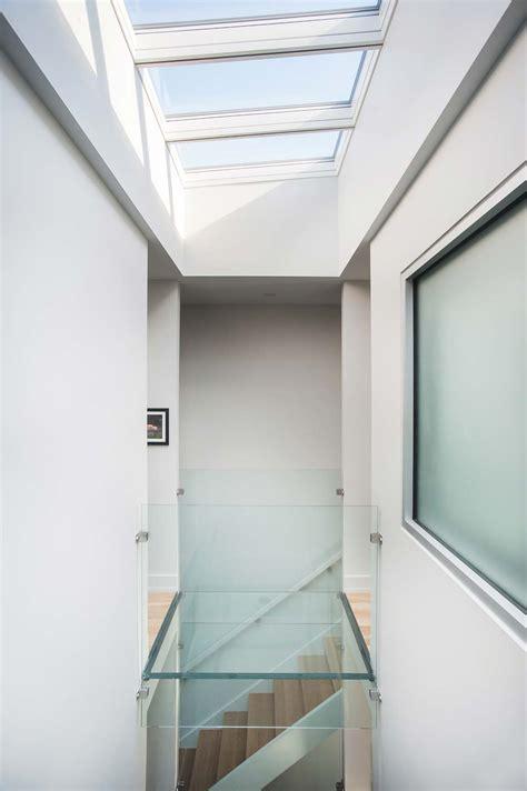 Modern Row House Design With Amazing Skylight In Richmond