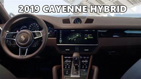 2019 Porsche Cayenne Hybrid Interior Youtube
