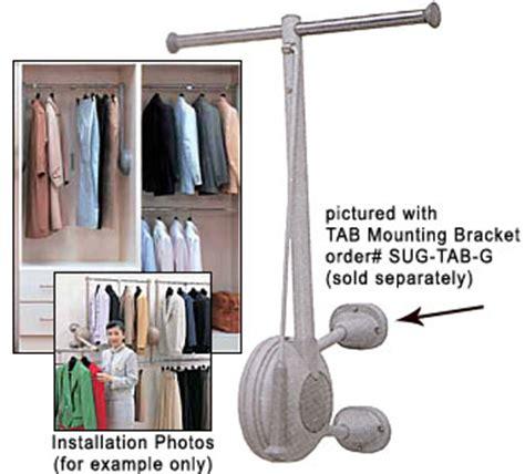 sugatsune tat 800l g tallman t style closet rod lift