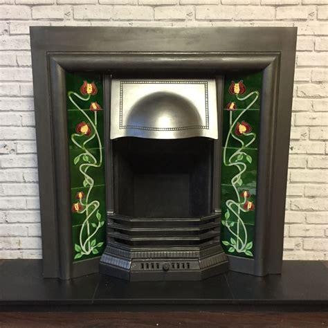 edwardian cast iron fireplace insert  sale victorian