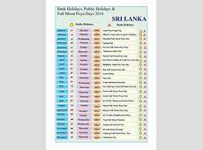 2017 Calendar With Holidays Sri Lanka Calendar Template 2019