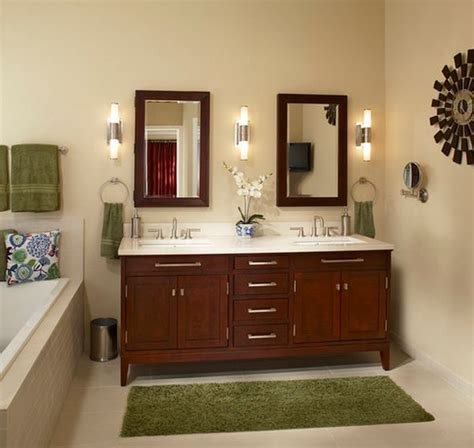 White Bathroom With Color Accents by Decorating With Green 52 Modern Interiors To Accentuate