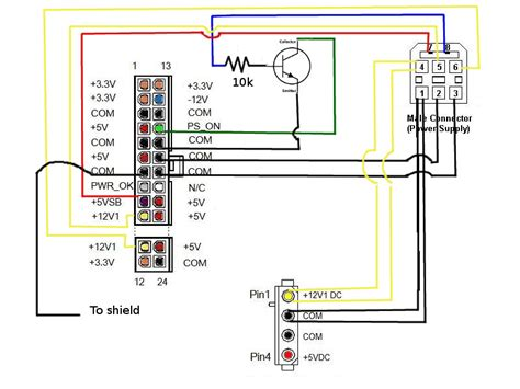 wiring diagram for xbox 360 power supply how to power an xbox360 with an atx power supply