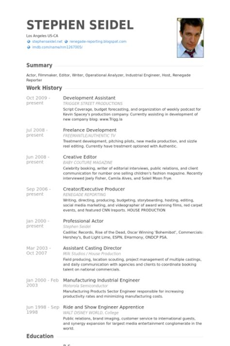 development assistant resume sles visualcv resume