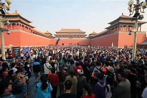 Low-Tech Holiday-Makers Walled Out as Forbidden City ...