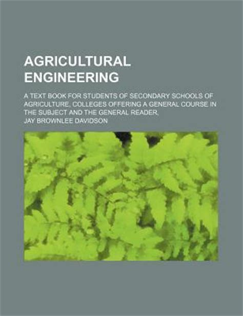 agricultural engineering  text book  students