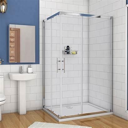 Shower Glass Door Sliding Corner Entry Double
