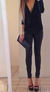 Shoes heels high heels black outfit night summer ...