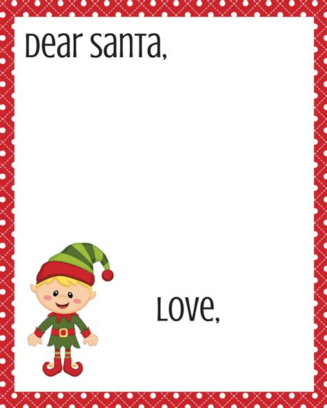 dear santa printable set