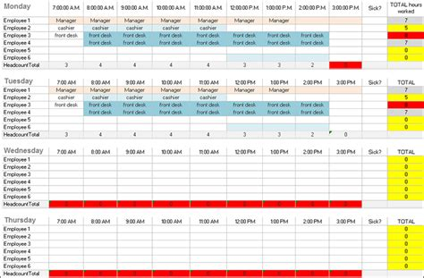 Employee Daily Work Schedule Template by 31 Daily Work Schedule Templates Free Pdf Excel Word