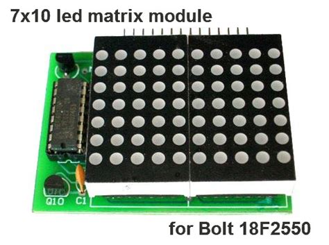 x10 l module led pic projects 7x10 led matrix module expansion for bolt