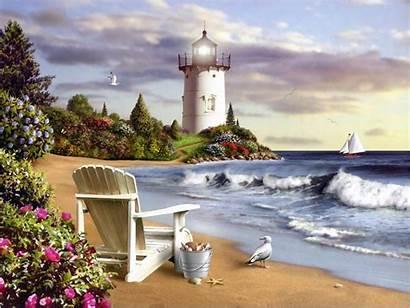 Lighthouse Wallpapers Lighthouses Painting Wallpapersafari