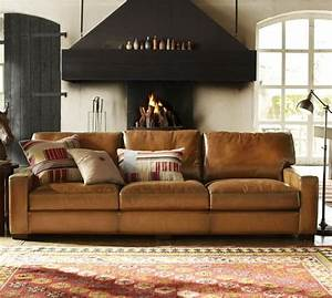 Every living room needs a big bold couch turner square for Pottery barn turner sectional sofa