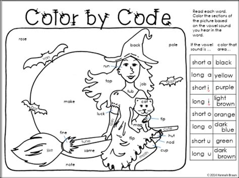 8 best images of vowel coloring worksheets