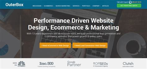 ecommerce web design outerbox launches new site to promote ecommerce web design