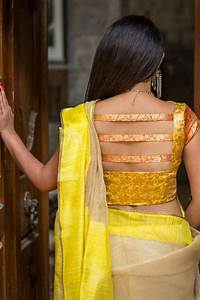 Contrast Blouse Back Neck Design Silk Saree Blouse Designs Front And Back Collection Catalogue