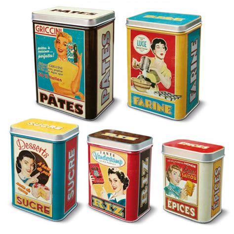 set de cuisine vintage set de 5 boîtes alimentaires quot quot natives déco