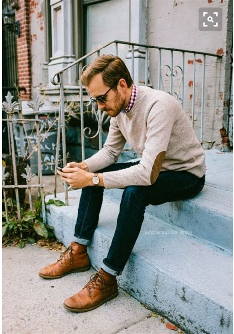 25+ best ideas about Mens Cuffed Jeans on Pinterest | Menu0026#39;s leather boots Rugged menu0026#39;s fashion ...