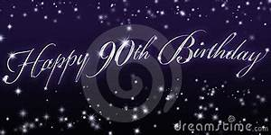 Happy, 90th, Birthday, Banner, Royalty, Free, Stock, Photography