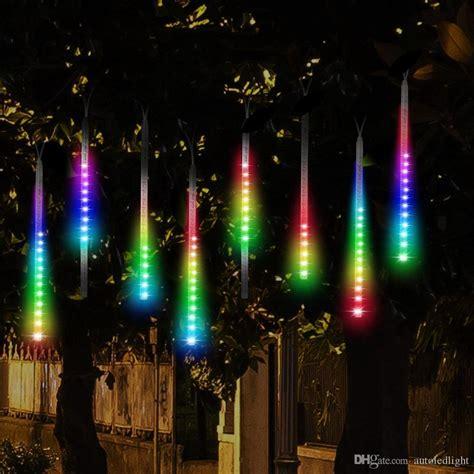 cheap led meteor shower rain lightsdrop icicle snow