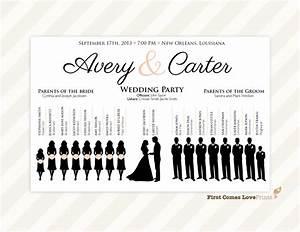 wedding party silhouette clip art wwwimgkidcom the With avery wedding program templates