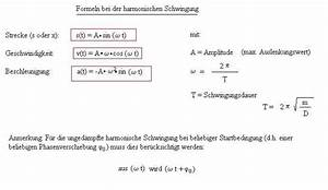 Physik Beschleunigung Berechnen : harmonische schwingung ~ Themetempest.com Abrechnung