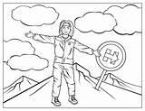 Hillary Clinton Mountain Climbing Coloring Printable Trump Categories sketch template