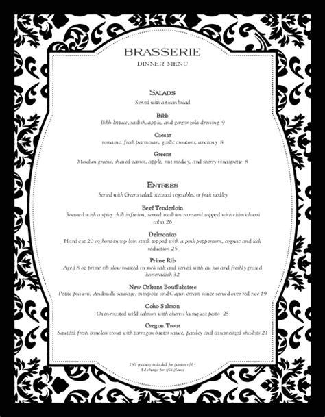 Fine Restaurant Dining Menu | Design Templates by
