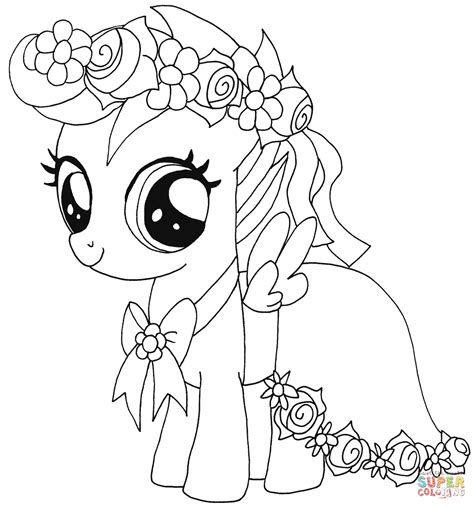 Pony Kleurplaat by My Pony Scootaloo Coloring Page Free Printable