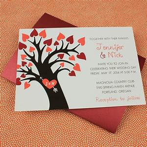 Fall wedding invitation template with heart tree for Free printable tree wedding invitations