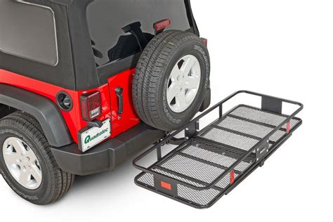 quadratec 12033 1001 quadratec jumbo cargo rack for 2 quot receiver hitch quadratec