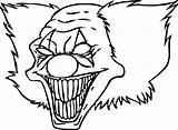 Coloring Clown Scary Pages Printable Adults Popular sketch template