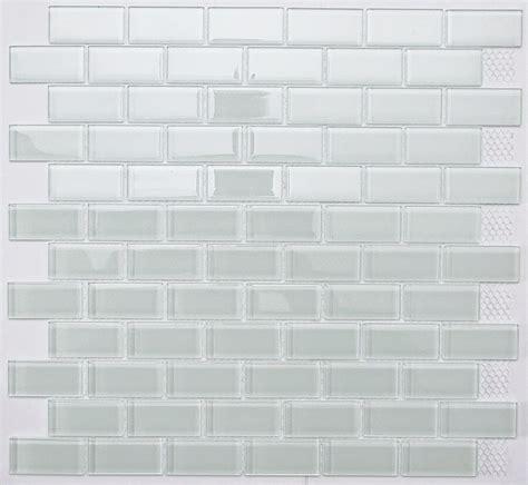 white subway glass mosaic tile  bathroom kitchen
