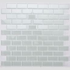 White Subway Glass Mosaic Tile For Bathroom, Kitchen