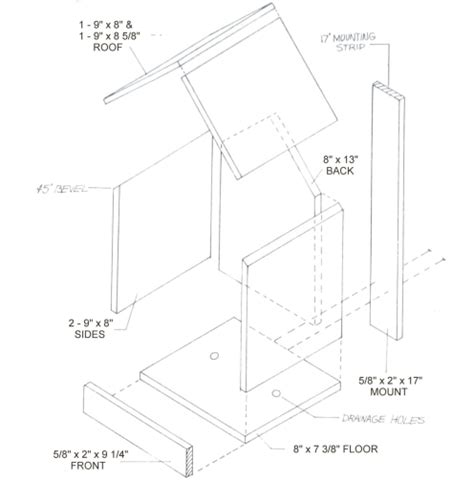 northern cardinal birdhouse plans