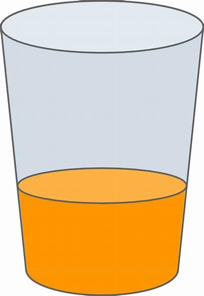 Juice Glass Clipart Svg Oranje Glasses Empty