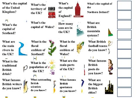 Great Britain Fact-File Cards Part 1