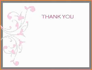 Thank you card template wordfeminine thank you card for Free printable wedding thank you cards templates