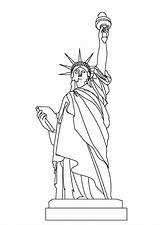 Liberty Statue Coloring Pages Colornimbus sketch template