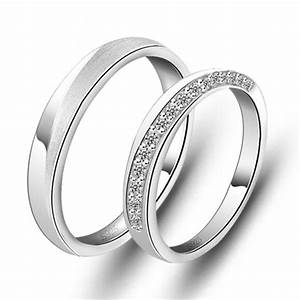 sterling silver cubic zirconia his and hers matching With sterling silver wedding rings his and hers