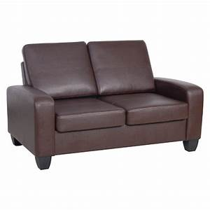 Agretto antique faux leather small sofa s3net for Small italian sectional sofa