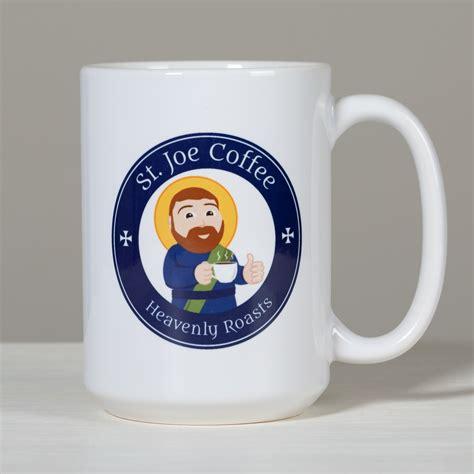 Hey joe coffee mug is more than just a mug. St. Joe Coffee Logo Mug | The Catholic Company