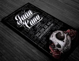 Tattoo business card on behance for Tattoo artist business cards
