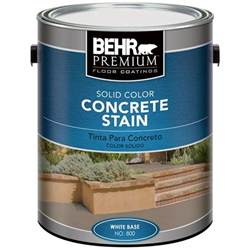 Behr Premium Deck Stain Home Depot by Behr Premium 1 Gal White Solid Color Concrete Stain 80001