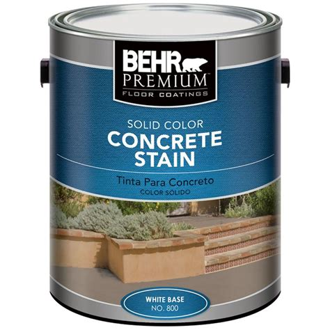 behr deck cleaner 64 behr premium 1 gal white solid color concrete stain 80001