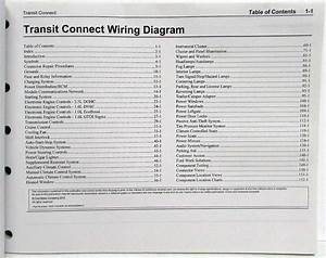 2014 Ford Transit Connect Electrical Wiring Diagrams Manual