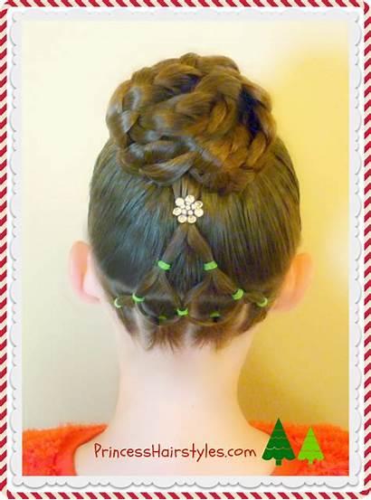 Christmas Tree Hairstyle Elegant Elastic Hairstyles Bun
