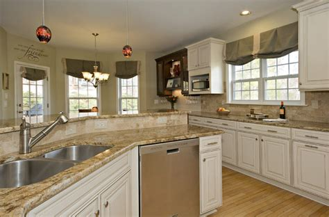 Kitchens With Dark Cabinets And White Countertops by Durham Chocolate And Cream Kitchen Traditional Kitchen