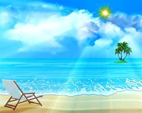 Ocean Background Sea Palm Trees Free image on Pixabay